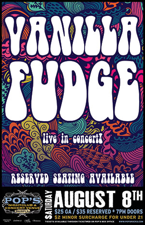 Show Cancelled!  Vanilla Fudge @ Pop's