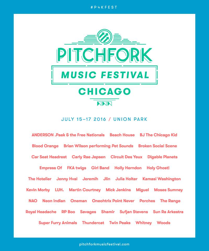 This Just In!  Pitchfork Music Festival Chicago Lineup and Ticket Sales