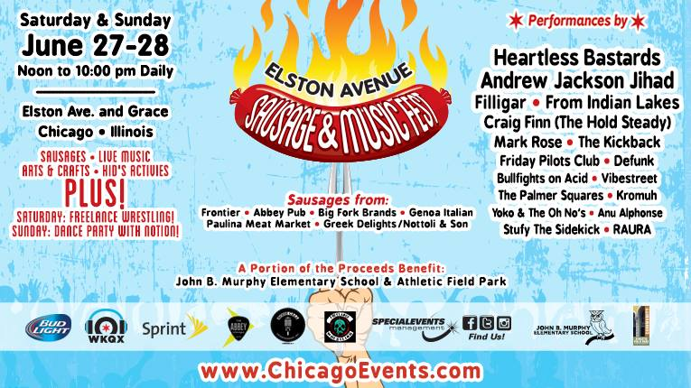 NEW FESTIVAL CHICAGO!  Elston Avenue Sausage & Music Fest – June 27-28