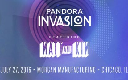 Matt and Kim To Headline Pandora's Third Annual Chicago Invasion