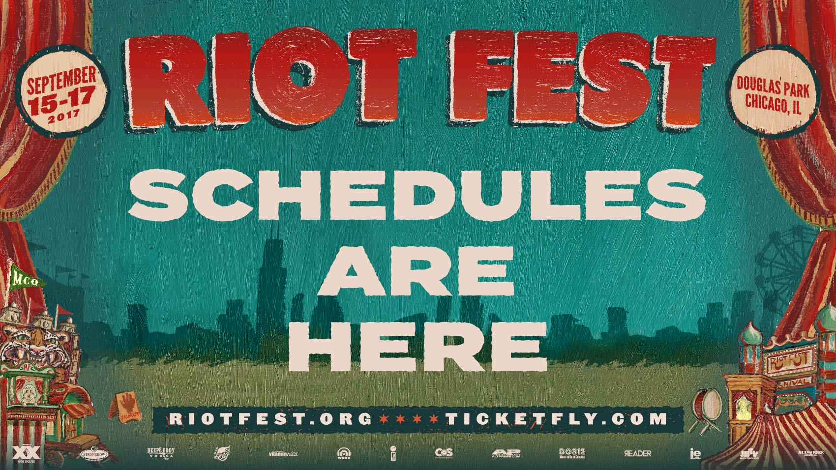 It's Here! Riot Fest 2017 Schedule!
