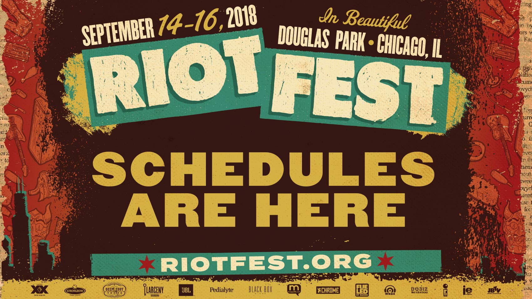 The Riot Fest Chicago 2018 Schedule Is Out. Time To Line Up Your Weekend Madness.