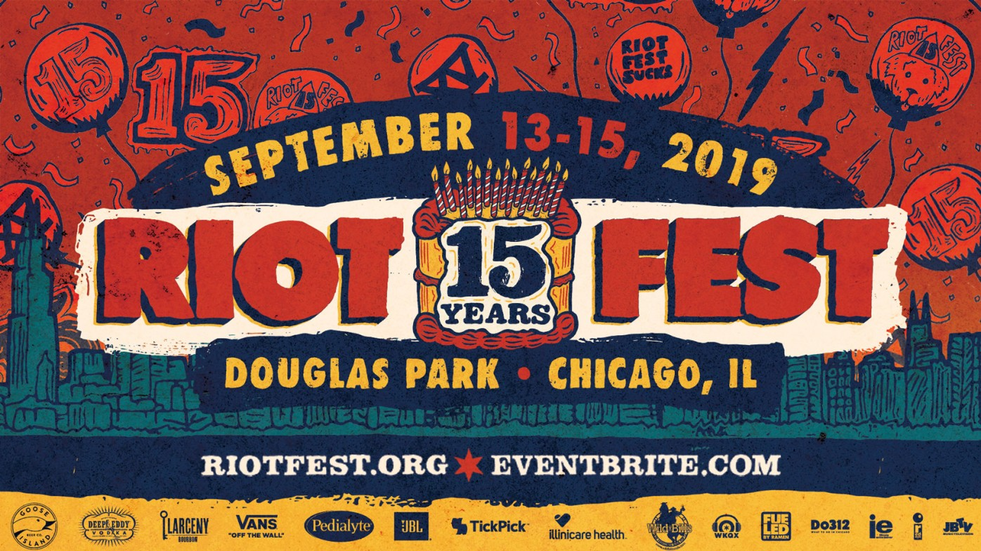 The 15th Anniversary Of Chicago's Punk Alternative and Rock Festival, Riot Fest, Announce This Years Lineup