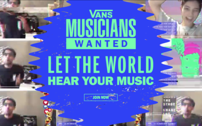 Vans Launches 'Musicians Wanted' Global Music Competition to Spotlight Undiscovered Artists and Award the Chance to Share The Stage with Celebrated Musician Anderson .Paak