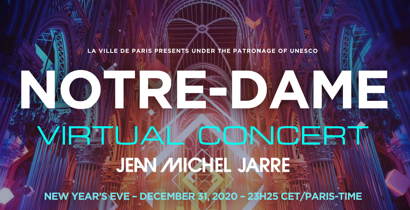 In The Loop Magazine NYE With Electronic Music Pioneer Jean-Michel Jarre  Live Virtual Event At Notre-Dame In Paris - In The Loop Magazine