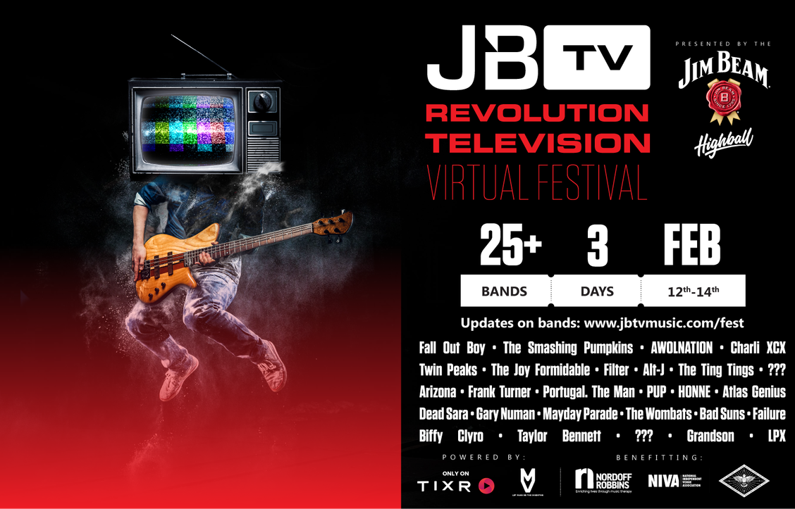 JBTV Revolution Television Virtual Festival Featuring All Star Line Up To Support Live Music