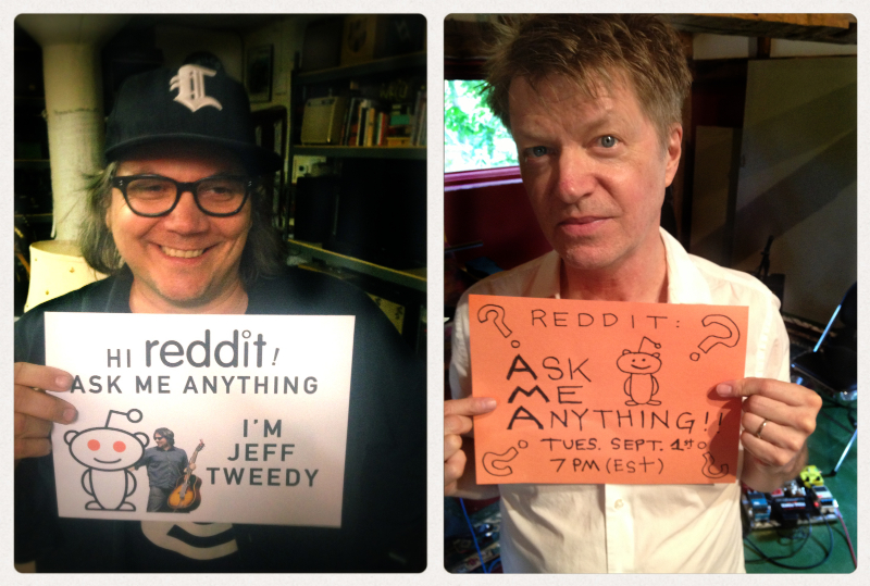 Join Wilco's Jeff Tweedy and Nels Cline Tonight For Live Reddit