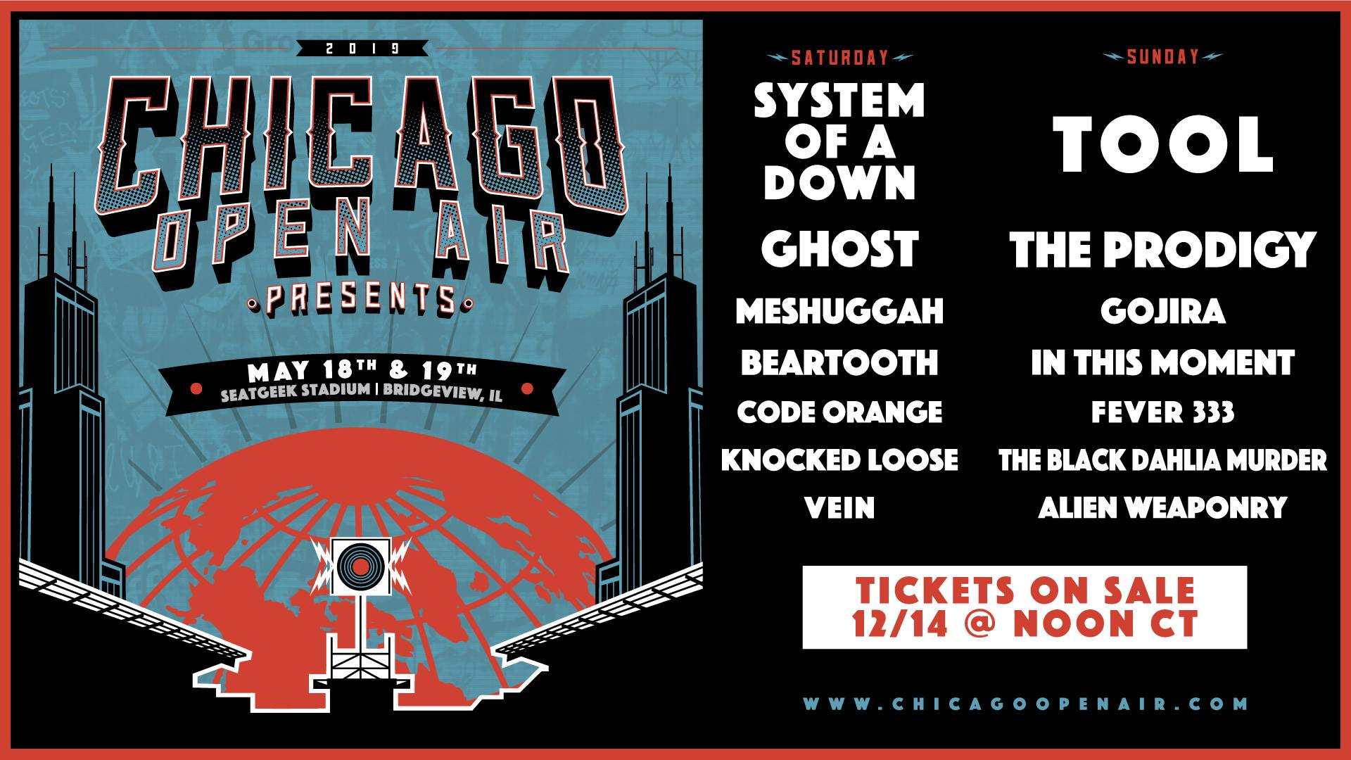 Just Announced! The Return of Chicago Open Air Festival To Toyota Park in Bridgeview, Il