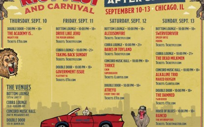 Riot Fest 2015 Announce After Shows