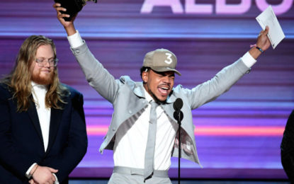 Congrats to Grammy Award Winner, Chance The Rapper