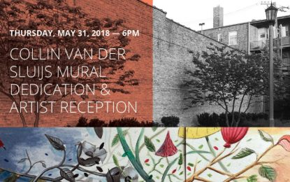Tomorrow! Collin Van Der Sluijs Mural Dedication & Artist Reception in Berwyn