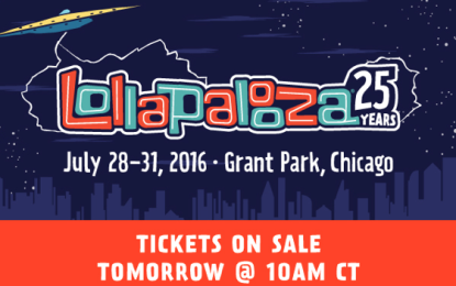 Lollapalooza 2016 Tickets Go On Sale