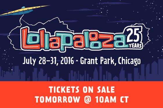 Lollapalooza 2016 Tickets Go On Sale