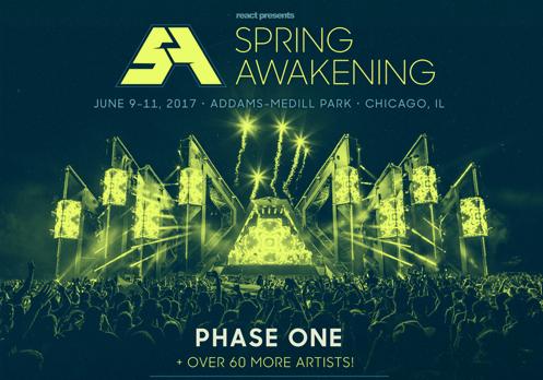 Spring Awakening Music Festival (SAMF) Announce Phase One Lineup For 2017
