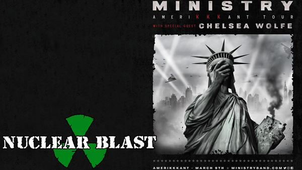 MINISTRY ANNOUNCES ALL-STAR GUEST LINE-UP FOR MARCH/APRIL NORTH AMERICAN TOUR