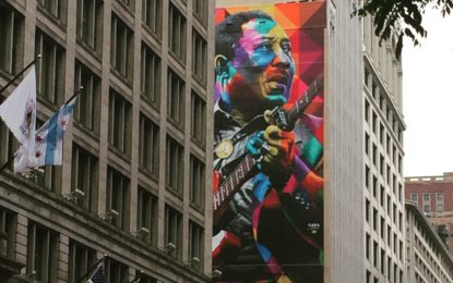 Dedication Ceremony For Legendary Blues Guitarist Muddy Waters, As Mural Goes Up On State Street