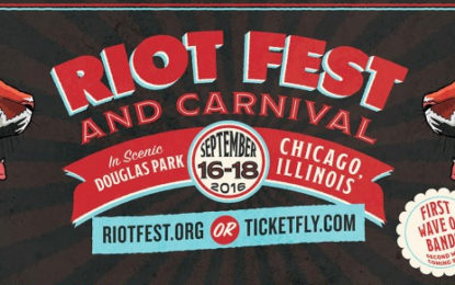 Riot Fest 2016 Line Up Announced