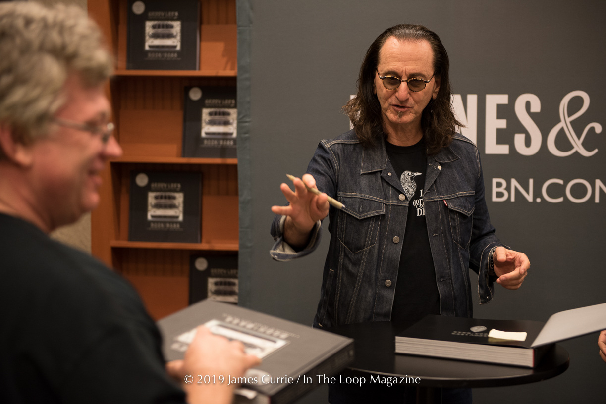 Rock Legend Geddy Lee Sets Up Shop At Barnes & Noble In Chicago For A Stop Along His Book Of Bass Tour Giving Fans A Rush Of Excitement
