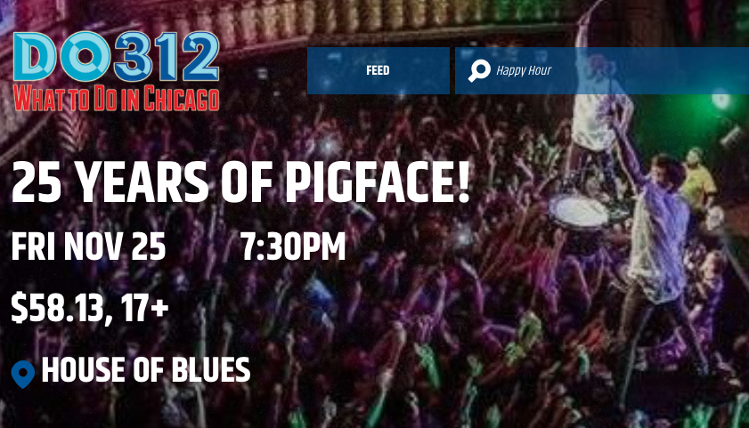 Win Tickets To See Pigface at the House of Blues Chicago On Black Friday!