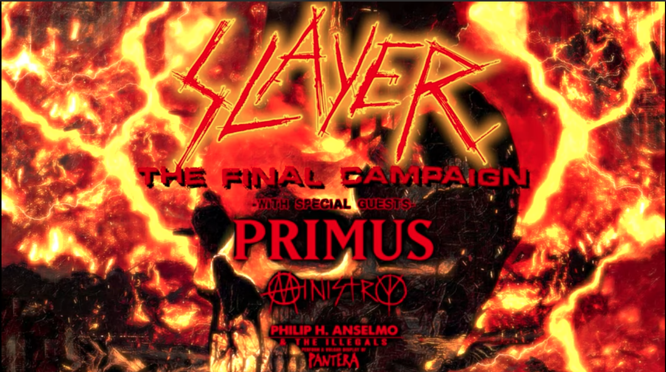 BREAKING NEWS! Ministry, Primus and Philip H. Anselmo To Join Slayer's Final Leg Of Tour